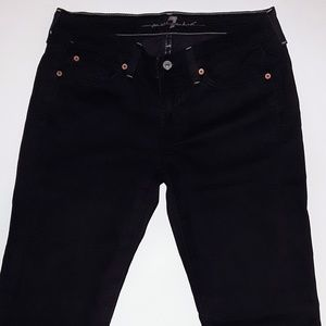 7 for all mankind black jeans size 29